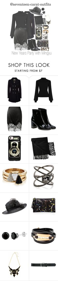 """New Years Party with Mingyu"" by seventeen-carat-outfits ❤ liked on Polyvore featuring Geox, Givenchy, Yves Saint Laurent, Casetify, New Directions, Brixton, Eva Fehren, Philip Treacy, Loeffler Randall and McQ by Alexander McQueen"