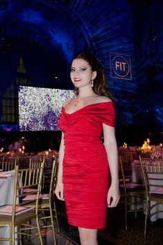 Red THEIA dress