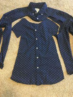 How to make a girl& dress from a men& Wie man aus einem Herrenhemd ein Mädchenkleid macht How to make a girl's dress from a man's shirt - Shirt Dress Diy, Diy Dress, Diy Shirt, Diy Tank, Make A Shirt, How To Make Dress, Sewing Clothes, Diy Clothes, Clothes Refashion