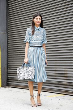 Street Style, New York: 20 stunning snaps captured on the last day of NYFW // Giovanna Battaglia