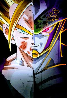 Gohan Vs Excellent Cell Dragon Ball Z Dragon Ball Z, Dragon Ball Image, Goku Vs Frieza, Majin, Dbz Vegeta, San Gohan, Gohan Vs Cell, Digimon Wallpaper, Perfect Cell