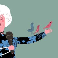 HAPPINESS IS SINGING KARAOKE  Ilustrada por/Illustrated by Madalena Matoso