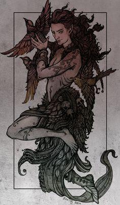 The Raven-God's Friend by SceithAilm, deviantART