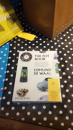 """The Pot Book"" de Edmund de Waal. Phaidon."