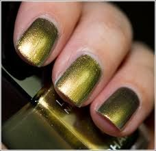 Metallic green nails by Chanel  #1 Choice
