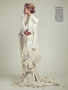 Rosie Huntington-Whiteley's Winter White Spread For Vogue Mexico via @WhoWhatWear