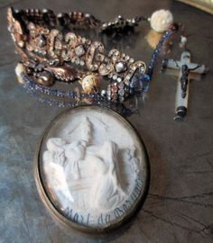 vintage assemblage necklace  MORT de BERNADETTE by TheFrenchCircus, $289.00