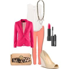 Your perfect Spring office look - mix pink & neutrals.