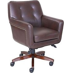 lazboy kelsey leather computer and desk office chair fixed arms