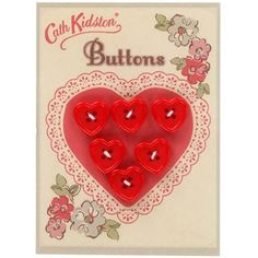 Hearts Button Card