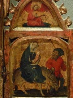 ALLEMAGNE,15e - Scènes de la Vie de la Vierge, l'Enfance du Christ - Détail 42 - Fuite en Egypte, Ange musicien - Flight into Egypt, Musician Angel -
