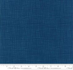 """16 Yards in Stock - 108"""" Wide - Moda Fabrics - Well Said Prussian Blue Quilt Back / Dark Blue Backing Fabric by Sandy Gervais - 11141-13"""