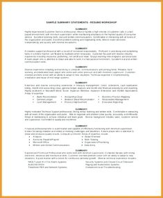 80 Unique Photography Of Resume Summary Statement Examples 2016 Professional Profile