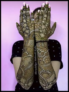 henna design # bridal henna new look new partten's 😘😘😘 Mehndi Designs Bridal Hands, Full Mehndi Designs, Floral Henna Designs, Indian Mehndi Designs, Henna Art Designs, Mehndi Design Pictures, Mehndi Designs For Girls, New Bridal Mehndi Designs, Tattoo Designs