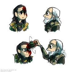Loki & Odin's relationship. Dad, I got hurt. Dad, that's not a band-aid. Dad, the phrase is SALT in the wound, not cactus.