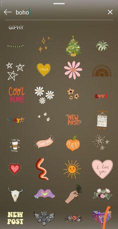 Instagram Emoji, Iphone Instagram, Instagram And Snapchat, Instagram Blog, Creative Instagram Stories, Instagram Story Ideas, Snapchat Stickers, Gifs, Cute Stickers