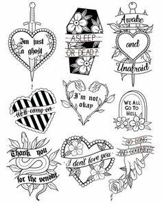 Tattoos And Body Art flash tattoo Flash Art Tattoos, Tattoo Flash Sheet, Body Art Tattoos, Small Tattoos, Emo Tattoos, Tiny Tattoo, Ankle Tattoos, Arrow Tattoos, Word Tattoos