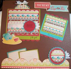 Cricut Imagine - Cup of Tea Layout from Kate's Kitchen