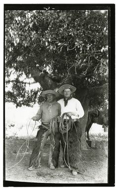 [Portrait of Housto and Bayard Thayer, Rancho Santa Anita] | 1890