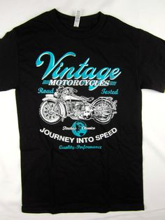 Vintage Motorcycle street Biker Racing tee shirt men's black Choose A Size #1StopTrendShop #GraphicTee