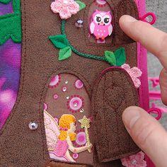 Fairybook  1 Quiet book page Magic Forest PATTERN & por MirzaCrafts