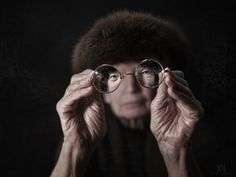 I can see clearly now. - Part of a portrait series of people with all types of glass objects/lenses.