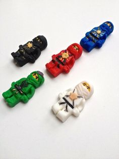 mini figure characters edible fondant cupcake toppers made by FancyTopCupcake