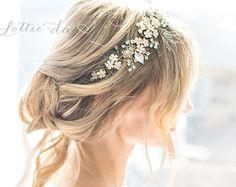 Boho Gold Halo Haar Rebe Blume Krone Gold oder von LottieDaDesigns