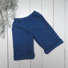 Pantalon bleu nuit bébé coton coupe droite poche par ZABOfaitsonnid