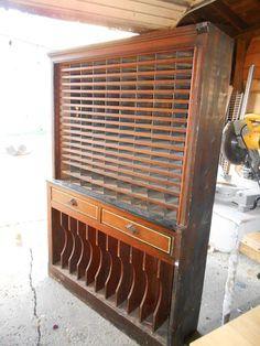 STUDIO FURNITURE INSPI: Antique Hotel Key Mail Cabinet Storage Victorian Steampunk File Filing Display   eBay