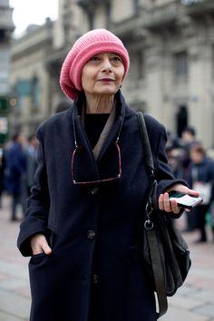 Tuesday, January 14, 2014 At Gucci, Milan - « The Sartorialist ( Renata! )