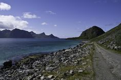 Great walk close to Haukland Perfect place for a picknick after a hike on a mountain! Great Walks, Lofoten, Perfect Place, Hiking, Mountains, Places, Nature, Travel, Beautiful