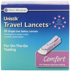 Owen Mumford AT 1048 Unistik 3 Normal Safety Lancets, 1.8mm Depth, 28 Gauge, 25 Count diabetes * This is an Amazon Associate's Pin. Find out more from the website by clicking the VISIT button.