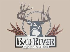 This is a sign that we made for bad river bucks & birds.  It show some of the detail that we can put in a sign. Custom Business Signs, Laser Cut Steel, Idaho, Laser Cutting, Wood Art, Birds, Gallery, River, Detail