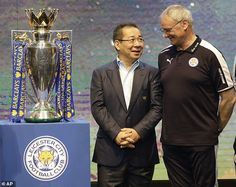 Leicester City owner Vichai Srivaddhanaprabha revealed the sacking of Premier League winning manager Claudio Ranieri – before it was announced Leicester City Football, Leicester City Fc, Cardiff City, Triumph, British Actors, Premier League, Baseball Cards, Sports, Stuff To Buy