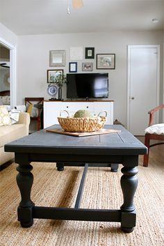 Annie Sloan Graphite Coffee Table