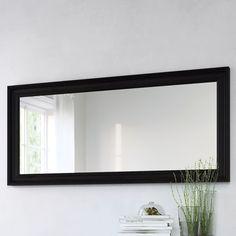 IKEA - HEMNES, Mirror, black-brown, , hang on back of bath room door Living Room Mirrors, Dining Room Walls, My Living Room, Dining Area, Ikea Hemnes Mirror, Ikea Mirror, Wall Mirror, Window Mirror, Window Wall