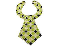 Designer Baby Neck Tie Bib by babyglobefrogger on Etsy, $10.95