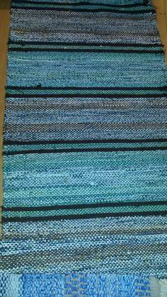 Old rag rug. Blue Rugs, Rag Rugs, Fibre Art, Recycled Fabric, Persian Carpet, Rug Hooking, Woven Rug, Beach House, Weaving