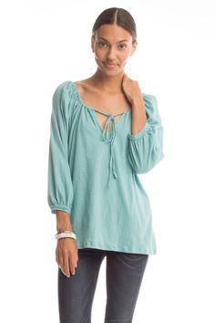 Synergy Organic Clothing :: Stevie Top in Aquamarine