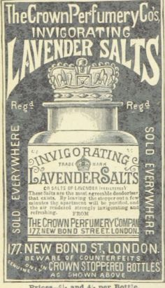 Free printable of public domain image of vintage lavender salt advertisement…