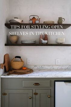 I remember when we were first designing the kitchen during the renovation. The big decision to remove the upper cabinets meant a major commitment. There would be open shelves in the kitchen that would forever need to be styled. It meant everything was out in the open!