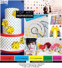 #Planche d'#inspiration #pop  #art Pop Art Party, Yellow Pantone, Art History Lessons, 21st Party, Volunteer Appreciation, Inspirations Magazine, Sweet Cakes, Decoration, Wedding Styles
