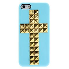 A cool cross studded iphone case from http://www.miniinthebox.com/special-design-golden-rivets-cross-pattern-hard-case-with-nail-adhesive-for-iphone-5-5s-assorted-colors_p859939.html