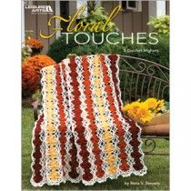 With the set of five blossom-strewn designs to crochet in Rena V. Stevens' Floral Touches from Leisure Arts, you can enjoy flowers year-round! Afghan Crochet Patterns, Crochet Patterns For Beginners, Crochet Stitches, Crochet Afghans, Crochet Blankets, Crochet Ideas, Blanket Patterns, Crochet Projects, Crochet Doll Dress