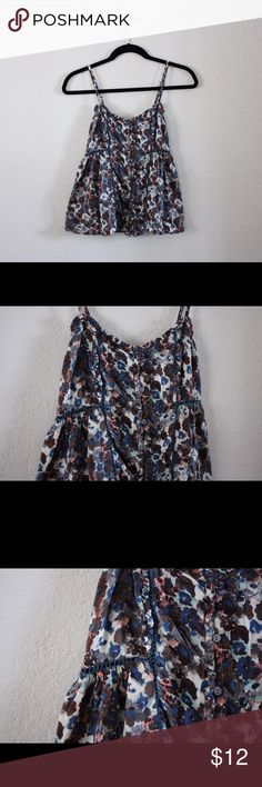 Floral Tank Top Incredibly soft floral tank top that's perfect for summer! Cute with jeans, jean shorts, and shorts of any color! The detail work, with the peek through stitching is fantastic! American Eagle Outfitters Tops Tank Tops