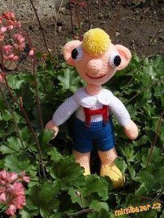 Některé maminky a babičky mě prosily o návod na Hurvínka. Je mi líto, ale podrobný návod nemám, háčk... Crochet Dolls, Knit Crochet, Braids For Long Hair, Little People, Baby Toys, Crochet Projects, Diy And Crafts, Crochet Patterns, Teddy Bear