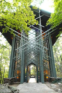 Thorncrown Chapel in Eureka Springs, Ak.  This is where Karyn and Darrin were married in the early evening..