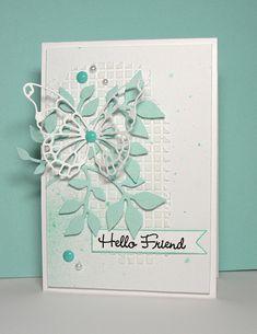 Hello Friend (Texture Paste Background). (Pin#1: Butterflies &...(SU). Pin+: Background: Textures)