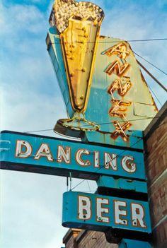 Annex - Dancing Beer - Neon Sign Downtown, Salt Lake City, Utah